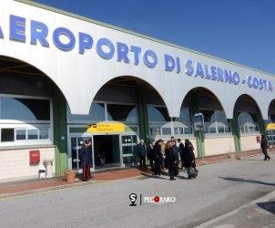 19 02 2013 Enrico Letta visita l'aeroporto di Salerno