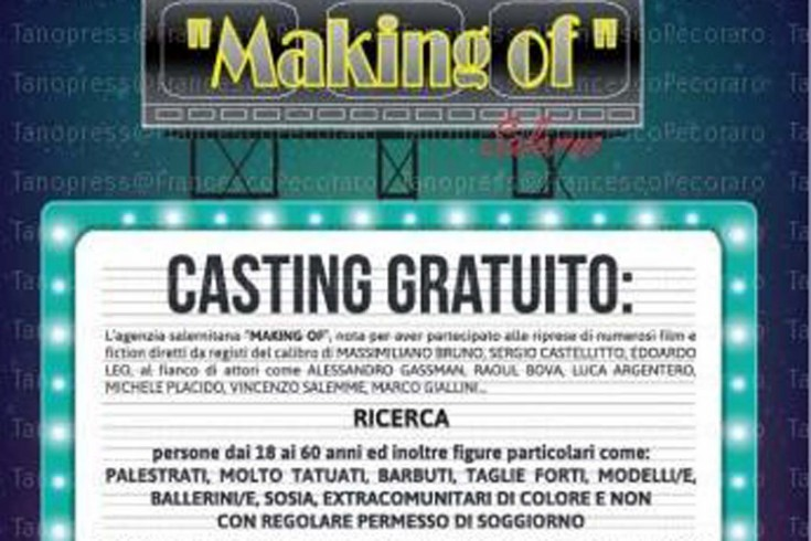 Making of Salerno torna con un nuovo casting - aSalerno.it