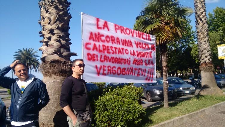 Aser, protesta a Palazzo Sant'Agostino - aSalerno.it