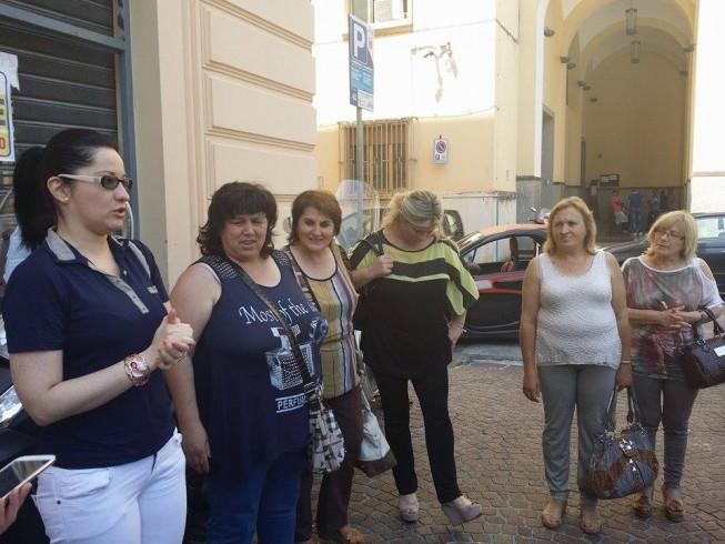 La protesta delle operatrici per le cure domiciliari - aSalerno.it