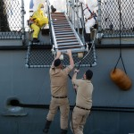 22/06/2015  Salerno Molo Manfredi Sbarco Migranti dalla nave tedesca Holstein.