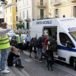 13 07 2015 Salerno Sgombero Extracomunitari Piazza San Francesco