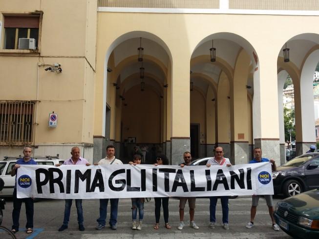 """Noi con Salvini dal Prefetto: """"Prima i salernitani e poi i migranti"""" - aSalerno.it"""