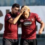 Calcio: Brescia Salernitana goal 2-2 gabionetta