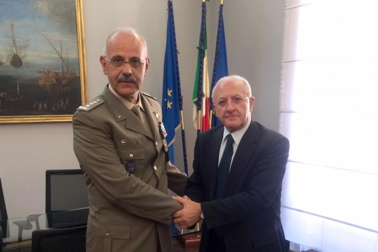 Incontro istituzionale di De Luca con il Generale De Leverano - aSalerno.it