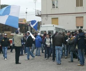 Angri : Gelbison-Agropoli, nella foto i tifosi dell'Agropoli (Foto Tanopress)
