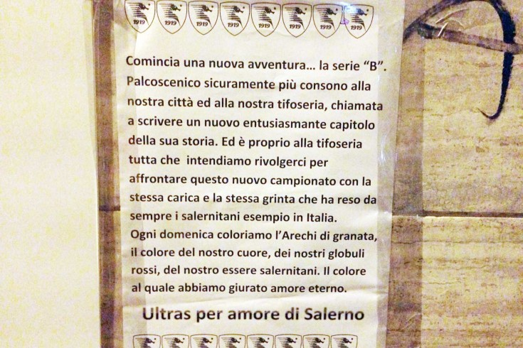 """Lettera ai tifosi: """"Scriviamo un altro capitolo nella storia granata"""" - aSalerno.it"""