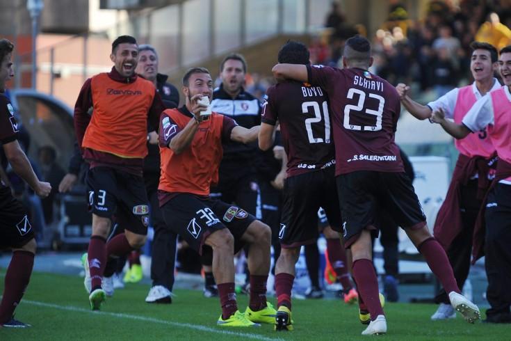 Bovo firma il vantaggio granata, la Salernitana conduce per 1 a 0 - aSalerno.it