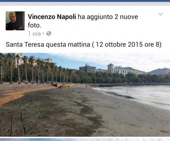 Enzo Napoli sui social, le foto di Santa Teresa dopo la manutenzione - aSalerno.it