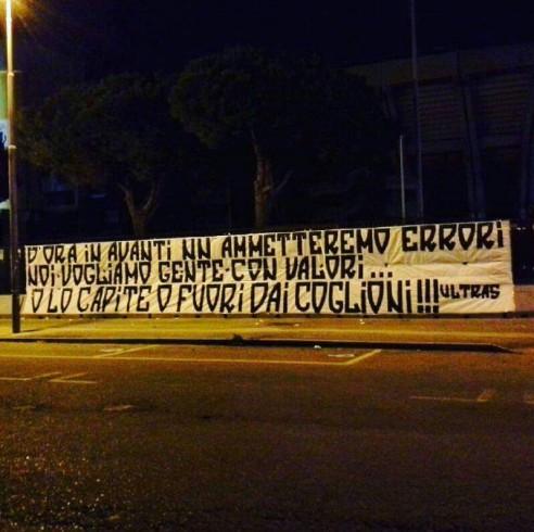 """Messaggio ultras ai calciatori: """"Non ammetteremo altri errori"""" - aSalerno.it"""
