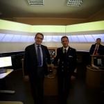 Il Presidente dell'Autorità Portuale Avv. Andrea Annunziata ed il Comandante della Capitaneria di Porto di Salerno CV (CP) Gaetano Angora