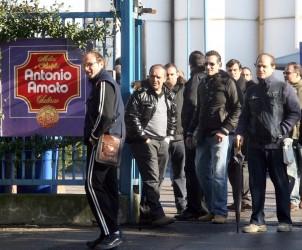 SAL - 11 01 2011 Protesta operai Pastificio Antonio Amato (foto Tanopress)