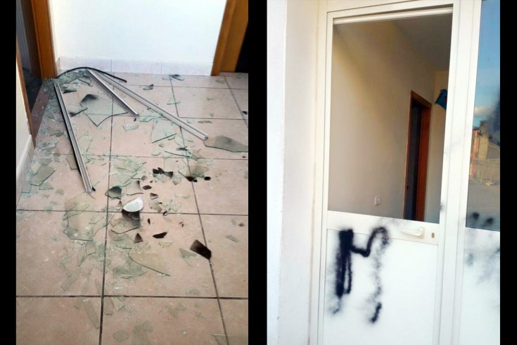 FOTO- Pellezzano, atto vandalico contro la nuova sede del Club Napoli - aSalerno.it