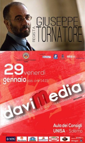 Il regista Giuseppe Tornatore ospite all'Università di Salerno - aSalerno.it