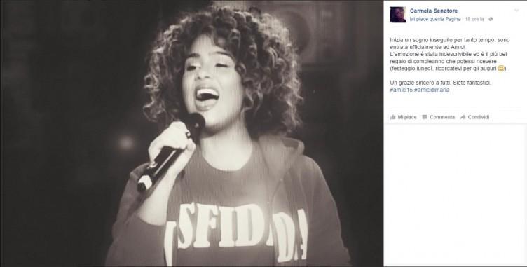 Amici 2016, si avvera il sogno della cantante salernitana - aSalerno.it