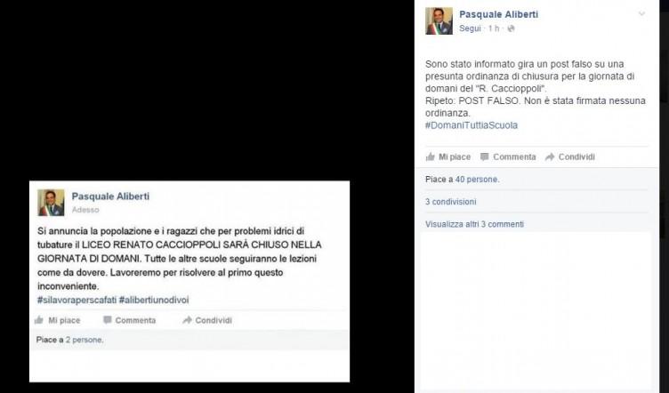 """Hackerano il profilo del sindaco su Facebook: """"Domani niente scuola"""" - aSalerno.it"""