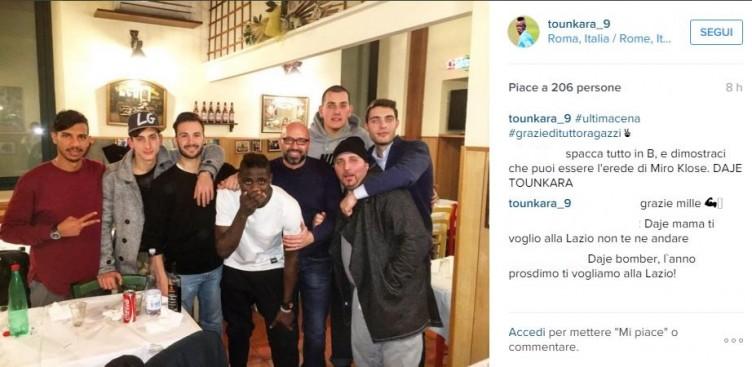 """Tounkara in viaggio per Salerno, ieri l'ultima cena """"social"""" a Roma - aSalerno.it"""