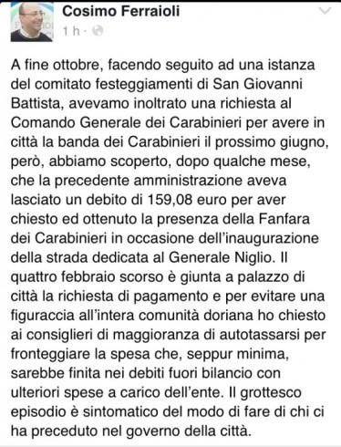 Il comune ha un debito con i Carabinieri:niente parata ad Angri - aSalerno.it