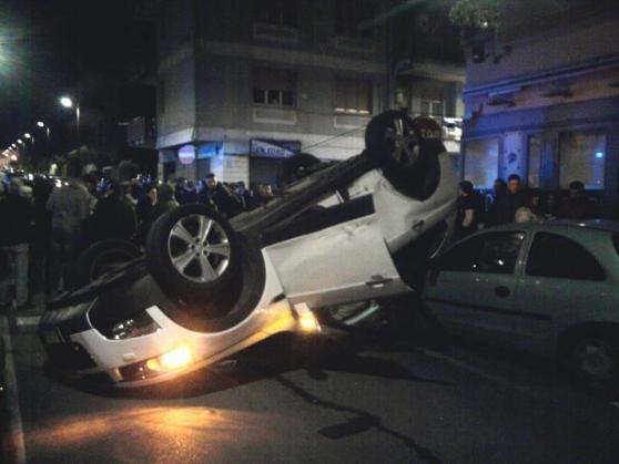 Auto si ribalta nella notte ad Angri, nessun ferito grave - aSalerno.it