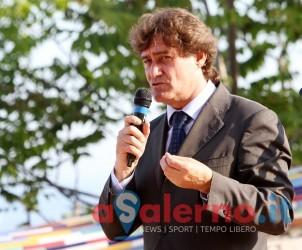 22 05 2014 Salerno Villa Comunale Vietri sul Mare  presentazione libro Non Solo Euro di Massimo D'Alema.
