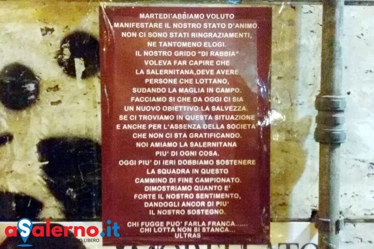 """La lettera degli ultras granata: """"Martedì è stato grido di rabbia"""" - aSalerno.it"""
