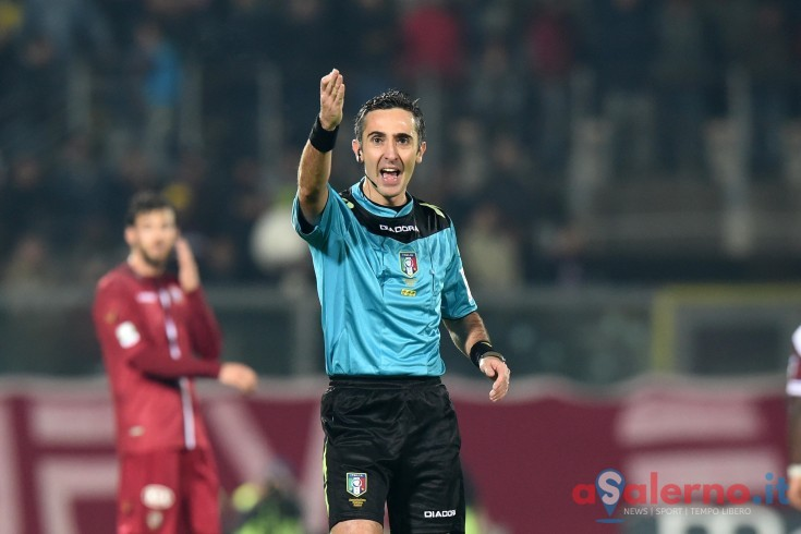Gianluca Aureliano è l'arbitro di Salernitana – Perugia - aSalerno.it