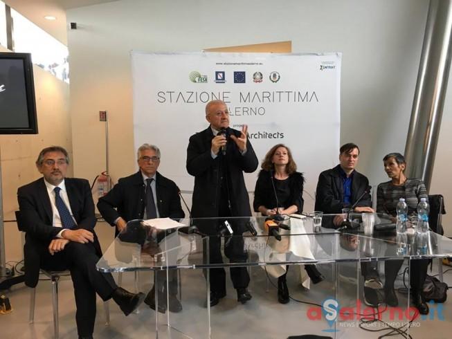 """Inaugurazione Stazione Marittima,De Luca: """"è l'approdo più bello del mondo"""" - aSalerno.it"""
