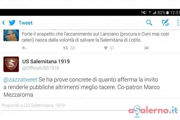 Marco Mezzaroma risponde al tweet velenoso di Zazzaroni - aSalerno.it