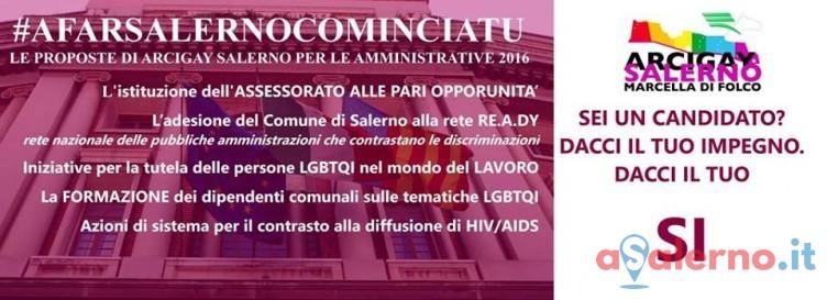 """L'Arcigay di Salerno ai candidati sindaco: """"impegno e contrasto a discriminazioni"""" - aSalerno.it"""