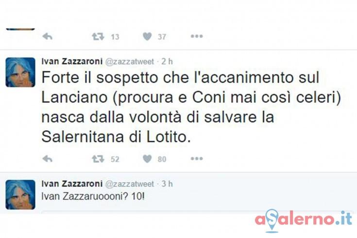 Caos Lanciano, Zazzaroni scrive un tweet al vetriolo - aSalerno.it