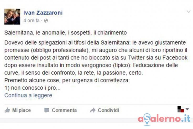 Le scuse di Zazzaroni dopo il tweet al vetriolo - aSalerno.it
