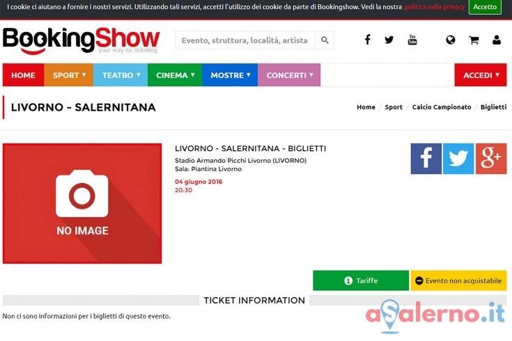 Biglietti per Livorno contro Salernitana già su bookingshow - aSalerno.it