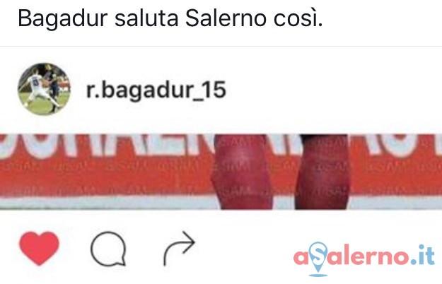 """L'addio di Bagadur: """"Il mio percorso qui è terminato"""" - aSalerno.it"""