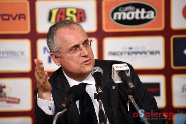 """Lotito:""""9500 spettatori? Non sono contento. Meritavamo la vittoria"""" - aSalerno.it"""