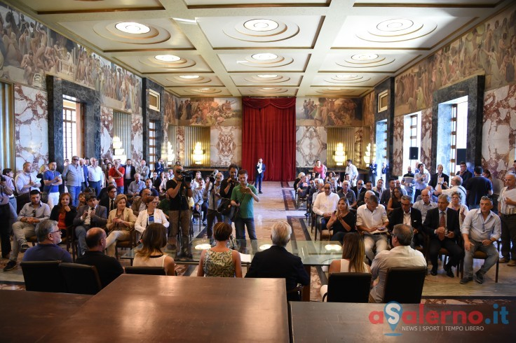 La proclamazione degli eletti in Consiglio Comunale nel Salone dei Marmi - aSalerno.it