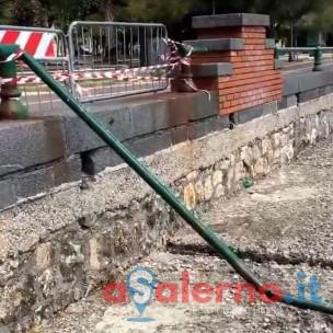 Lungomare Salerno ringhiera manutenzione