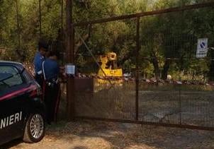 carabinieri sapri terreno discarica