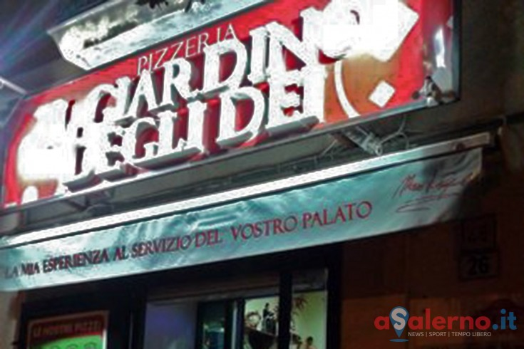 In fiamme la pizzeria Giardino degli Dei - aSalerno.it