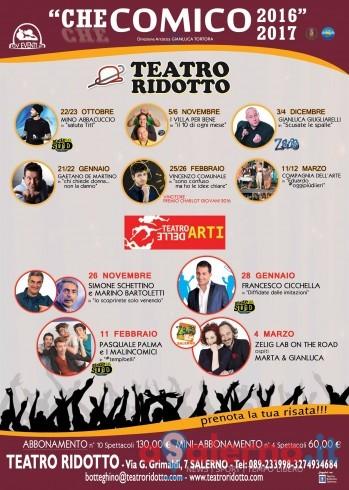 Tutto pronto per la nuova stagione del Teatro Ridotto di Salerno - aSalerno.it