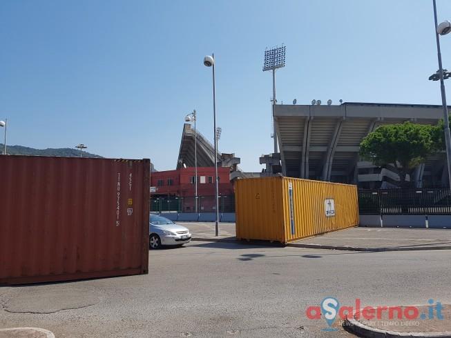 FOTO – Installati i container allo stadio Arechi in vista di domani - aSalerno.it