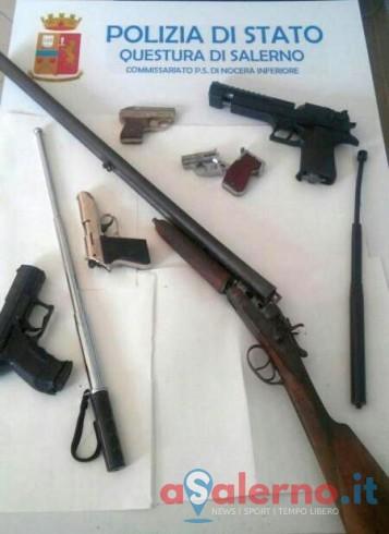 In casa con pistola calibro 22, lanciarazzi e fucile calibro 16, deferito 35enne - aSalerno.it