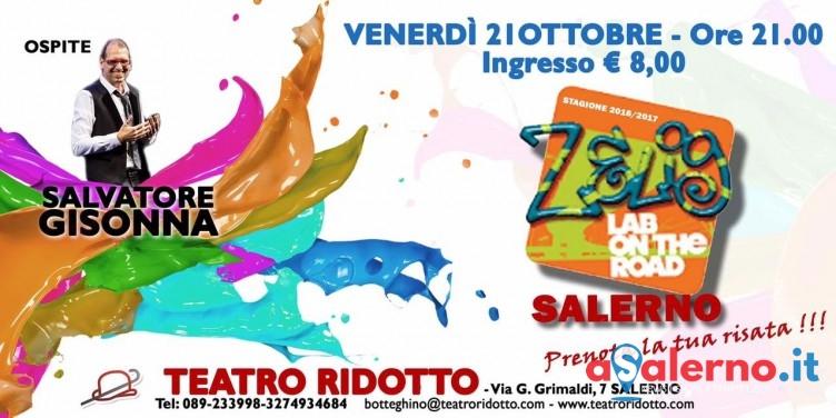 Il Teatro Ridotto raddoppia: domani parte Zelig Lab, sabato e domenica c'è Mino Abbacuccio - aSalerno.it