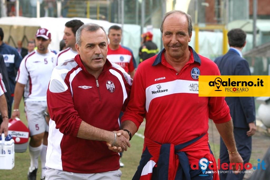 sal : Salernitana - Pisa campionato serie B tim 2008-09. Nella foto castori e ventura (Foto Tanopress)