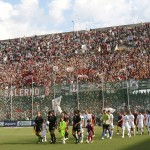 sal : Salernitana - Pisa campionato serie B tim 2008-09. Nella foto tifosi salernitana (Foto Tanopress)