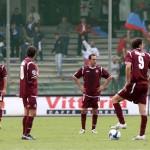 sal : Salernitana - Pisa campionato serie B tim 2008-09. Nella foto delusione salernitana (Foto Tanopress)