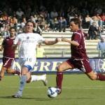 sal : Salernitana - Pisa campionato serie B tim 2008-09. Nella foto il gol di napoli del 1-0 (Foto Tanopress)