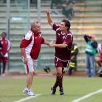 sal : Salernitana - Pisa campionato serie B tim 2008-09. Nella foto esultanza di napoli e castori dopo il gol del 1-0 (Foto Tanopress)