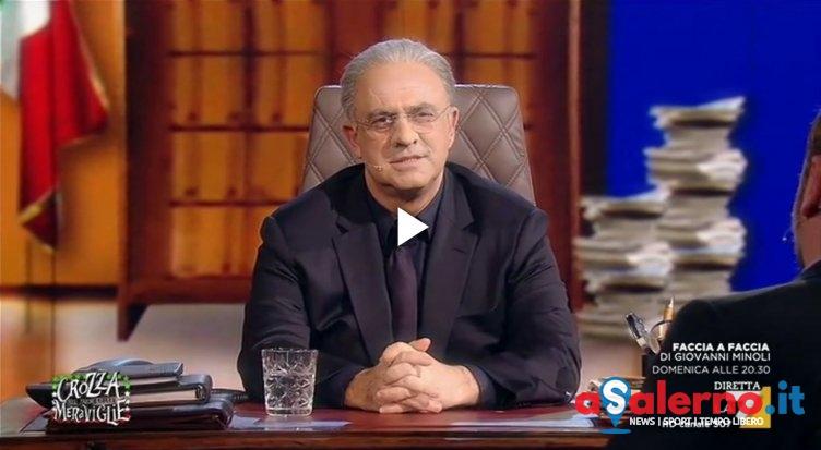 """Crozza-De Luca: """"Se Renzi tira fuori i milioni faccio diventare Salerno come il Vaticano"""" - aSalerno.it"""