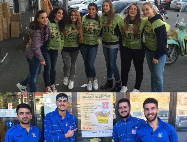 Atleti impegnati nella colletta alimentare in due supermercati di Salerno e Pontecagnano - aSalerno.it