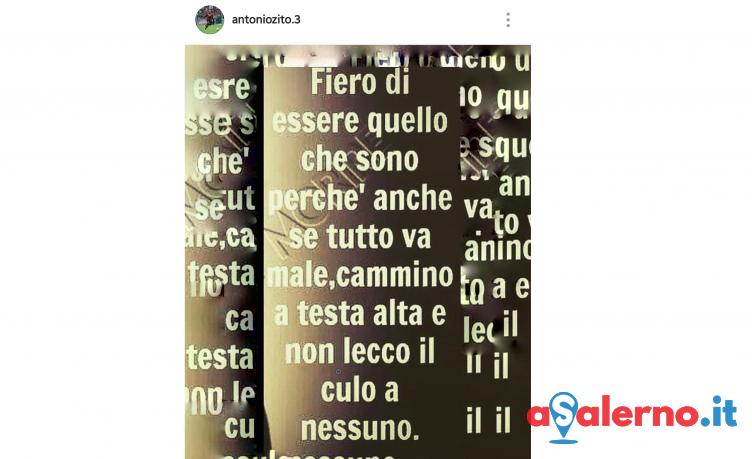 Stoccata social di Zito dopo l'esclusione dai convocati, messaggio all'allenatore? - aSalerno.it